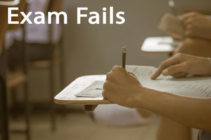 University Student Exam Fails