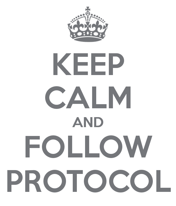 Deal with conflict using protocal