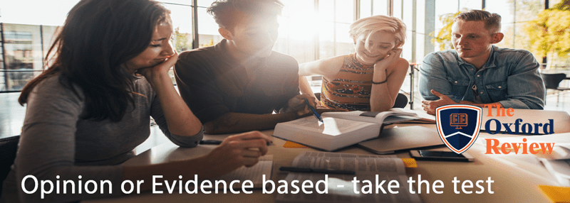 evidence based or opinion based organisation