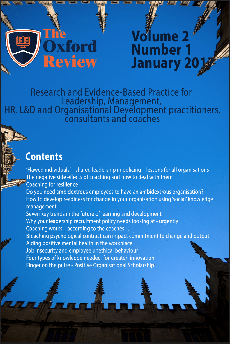 The Oxford Review Volume 2 No 1 January 2017