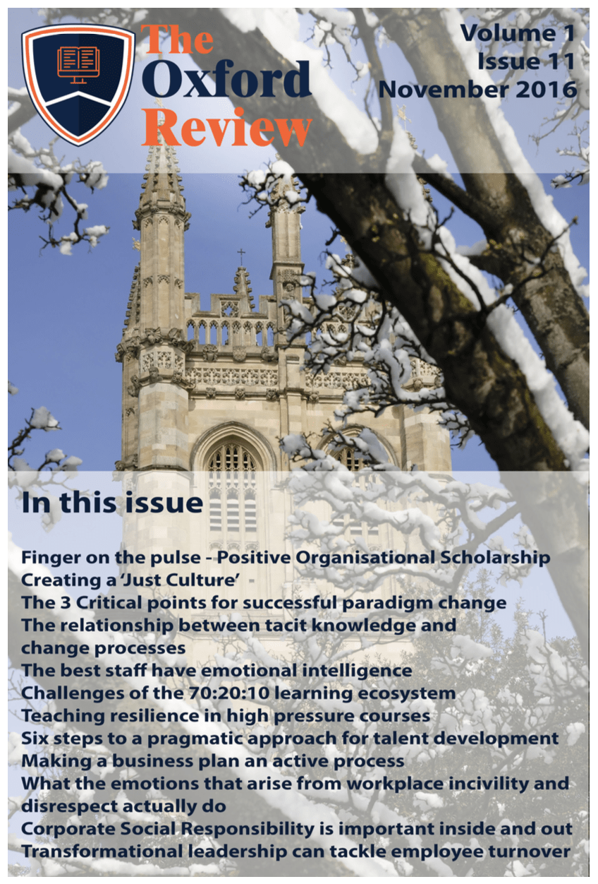 The Oxford Review Volume 1 Number 11 November 2016