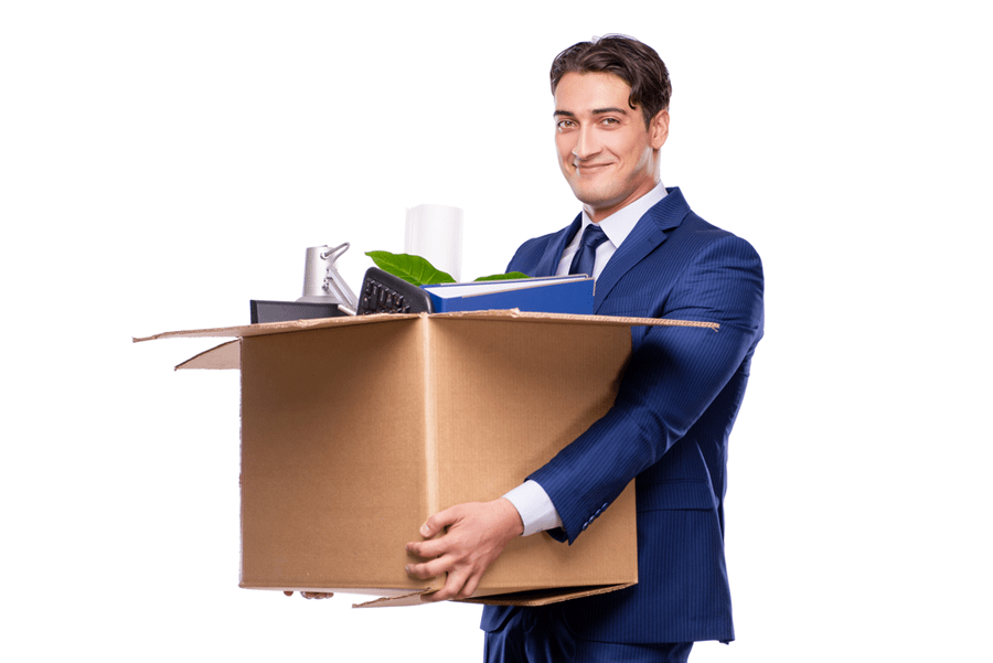 Employee Relocation Smiling Employee Moving