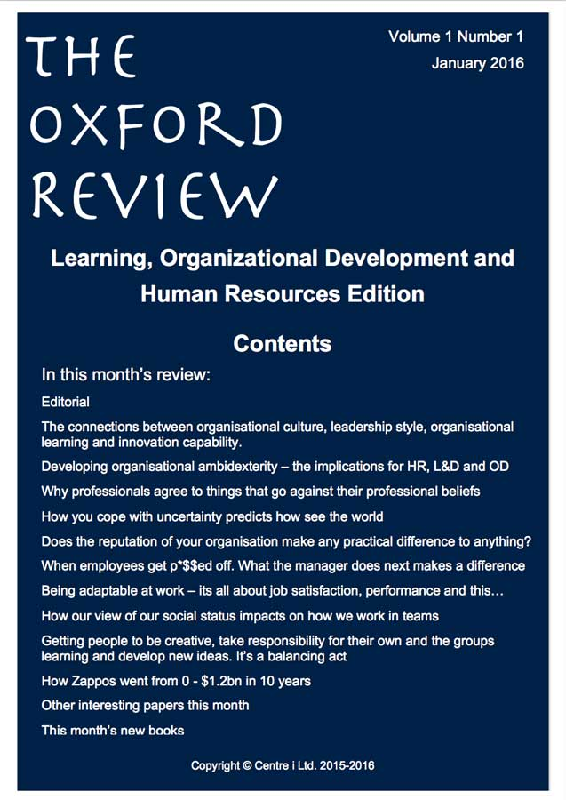 Oxford Review Vol 1 No 1 2016