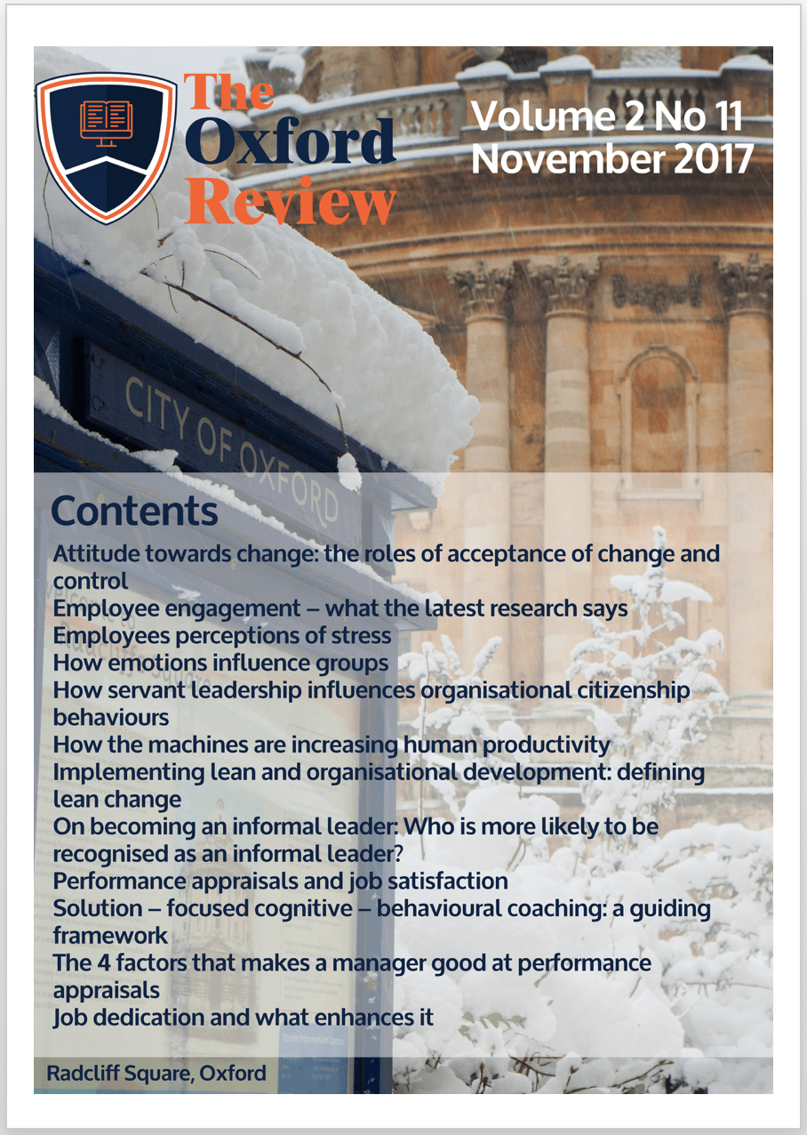 The Oxford Review Volume 2 Number 11 (November 2017)