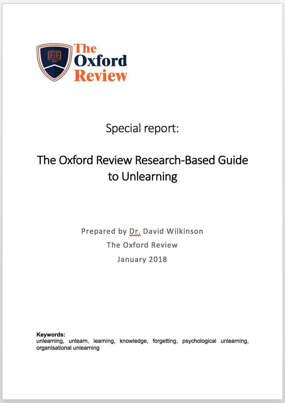 The Oxford Review Research-Based Guide to Unlearning