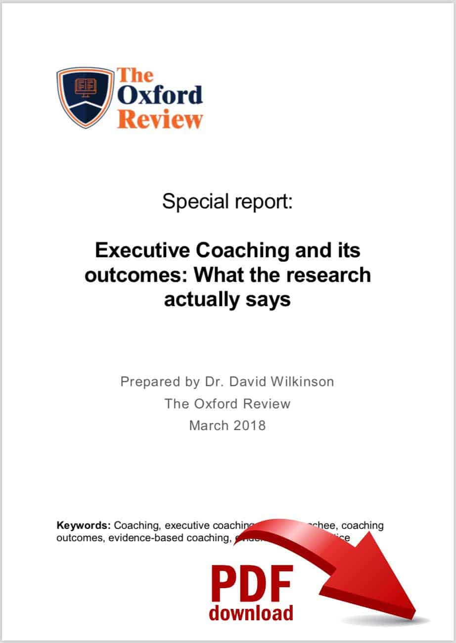 Executive coaching research briefing report