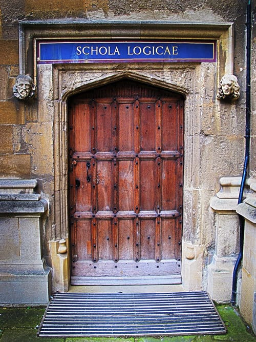 Door to the Bodleian Library
