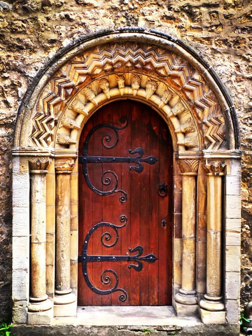 St Ebbe's Church door, Oxford