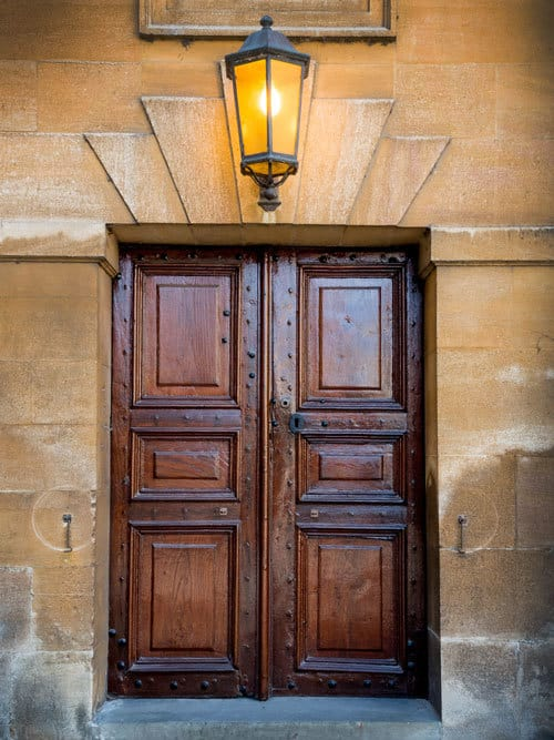 Door the the Sheldonian Theatre Oxford