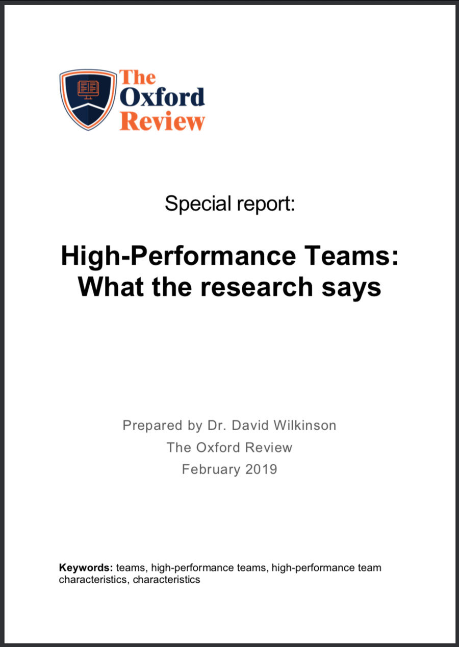 High-Performance Teams - Special Report