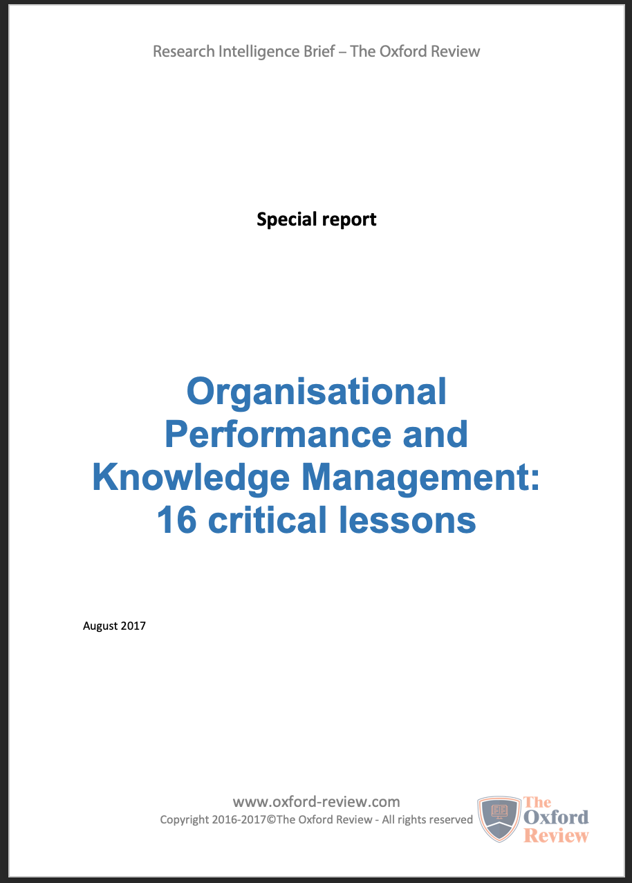 Knowledge management and organisational performance